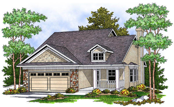 Traditional House Plan 73227 with 2 Beds, 2 Baths, 2 Car Garage Elevation
