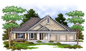 Traditional House Plan 73231 Elevation