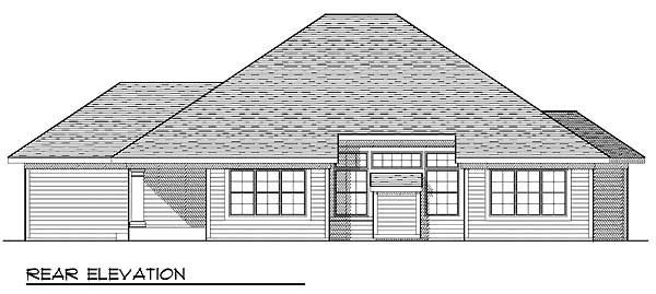 Traditional House Plan 73231 Rear Elevation