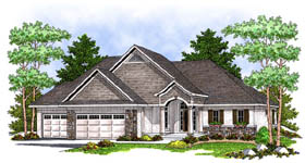 European Traditional House Plan 73233 Elevation