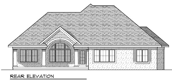 European Traditional House Plan 73233 Rear Elevation