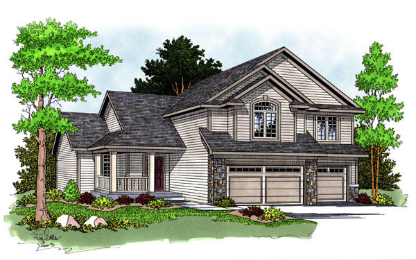Contemporary Traditional House Plan 73236 Elevation