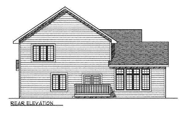 Contemporary Traditional House Plan 73236 Rear Elevation