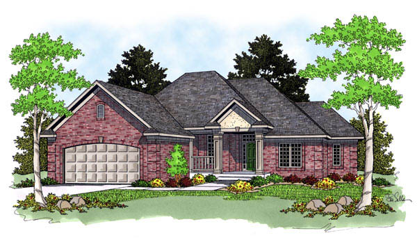 European House Plan 73237 Elevation