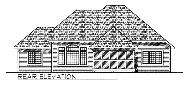 European House Plan 73237 Rear Elevation