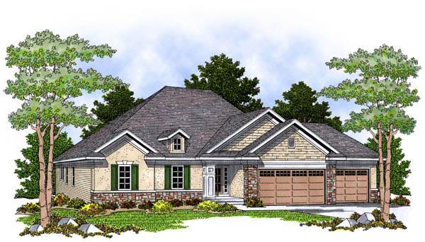 European Traditional House Plan 73238 Elevation