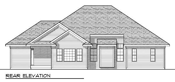 European Traditional House Plan 73238 Rear Elevation