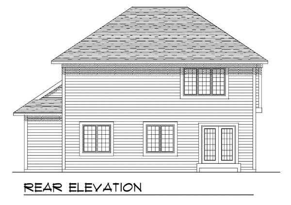 Country House Plan 73239 Rear Elevation