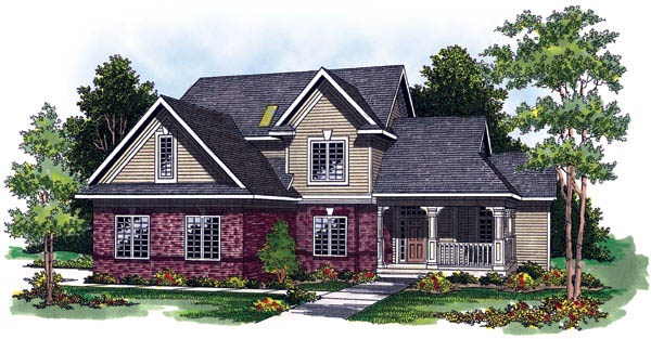 Traditional House Plan 73240 with 4 Beds, 3 Baths, 3 Car Garage Front Elevation