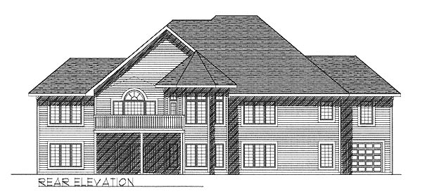 Traditional House Plan 73241 Rear Elevation