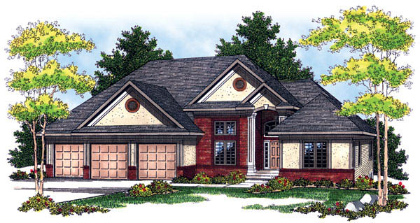 Traditional House Plan 73242 Elevation