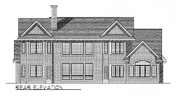 European House Plan 73243 Rear Elevation