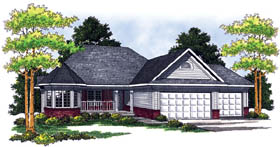 Traditional House Plan 73244 Elevation