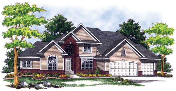 European , Traditional , Tudor House Plan 73245 with 4 Beds, 4 Baths, 3 Car Garage Elevation