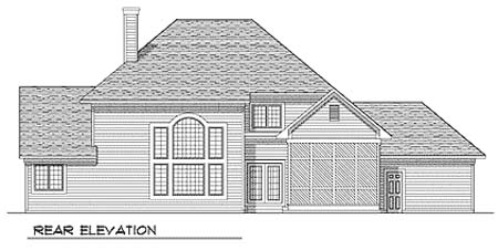 Traditional House Plan 73247 Rear Elevation