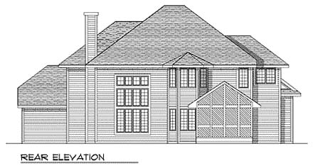 Traditional House Plan 73248 Rear Elevation