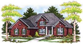 House Plan 73249 | Traditional Style House Plan with 3532 Sq Ft, 4 Bed, 4 Bath, 3 Car Garage Elevation