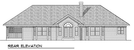 Traditional House Plan 73250 Rear Elevation
