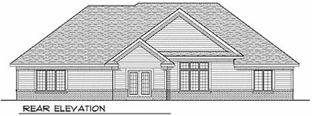 Traditional House Plan 73251 Rear Elevation