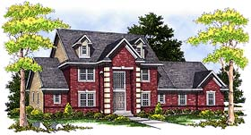 House Plan 73252 | Traditional Style Plan with 3358 Sq Ft, 5 Bedrooms, 4 Bathrooms, 3 Car Garage Elevation