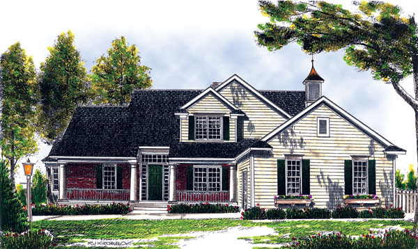 Traditional House Plan 73253 with 4 Beds, 3 Baths, 2 Car Garage Elevation