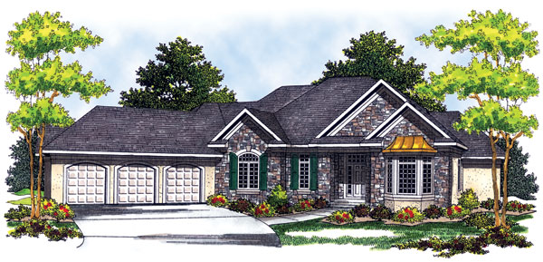 European House Plan 73254 Elevation
