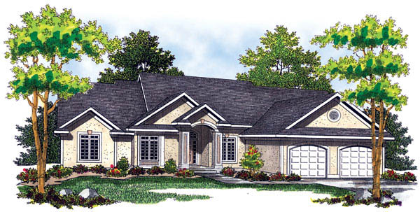 Traditional House Plan 73255 Elevation
