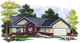 Bungalow Ranch Traditional House Plan 73256 Elevation