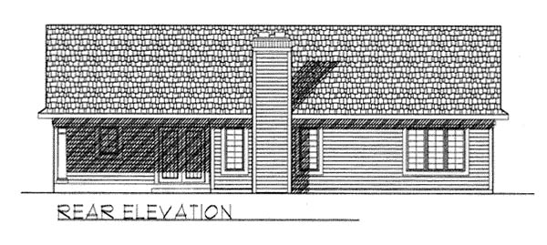 Bungalow Ranch Traditional House Plan 73256 Rear Elevation