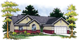 Craftsman Ranch Traditional House Plan 73257 Elevation