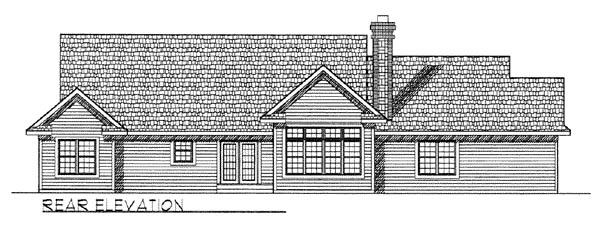 Country Ranch Traditional House Plan 73258 Rear Elevation