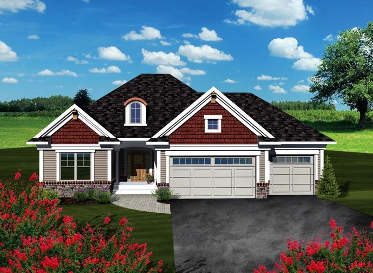 Ranch House Plan 73259 Elevation