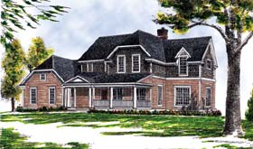 House Plan 73261 | Craftsman Farmhouse Style Plan with 2301 Sq Ft, 4 Bedrooms, 3 Bathrooms, 2 Car Garage Elevation