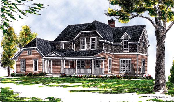 Craftsman Farmhouse House Plan 73261 Elevation