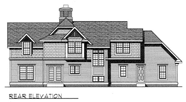 Craftsman Farmhouse House Plan 73261 Rear Elevation