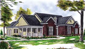 Country House Plan 73262 with 3 Beds, 2 Baths, 2 Car Garage Elevation