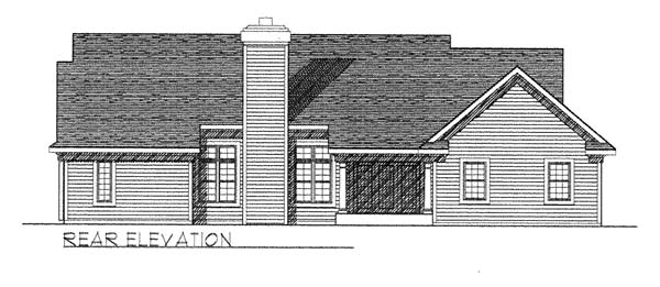 Country House Plan 73262 with 3 Beds, 2 Baths, 2 Car Garage Rear Elevation