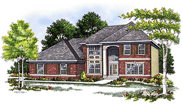 House Plan 73263 | Contemporary Style Plan with 2234 Sq Ft, 3 Bedrooms, 3 Bathrooms, 2 Car Garage Elevation