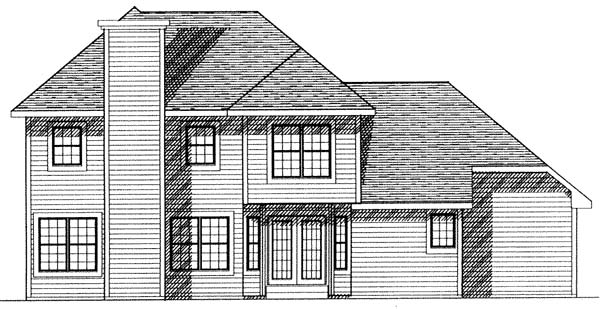 House Plan 73263 | Contemporary Style Plan with 2234 Sq Ft, 3 Bedrooms, 3 Bathrooms, 2 Car Garage Rear Elevation