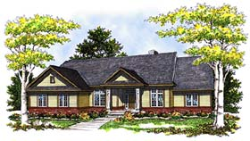 Contemporary Ranch House Plan 73264 Elevation