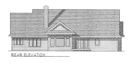 Contemporary Ranch House Plan 73264 Rear Elevation