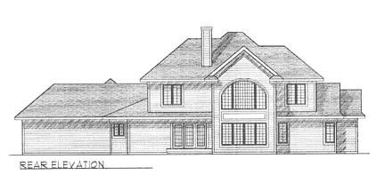 Traditional Tudor House Plan 73266 Rear Elevation