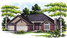 Traditional House Plan 73268 with 3 Beds, 3 Baths, 3 Car Garage Elevation
