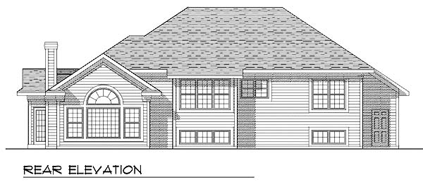 Traditional House Plan 73268 with 3 Beds, 3 Baths, 3 Car Garage Rear Elevation