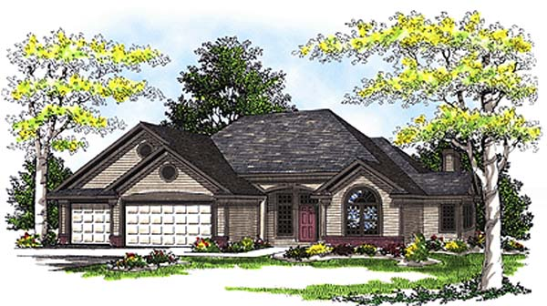 Traditional House Plan 73269 with 3 Beds, 3 Baths, 3 Car Garage Front Elevation