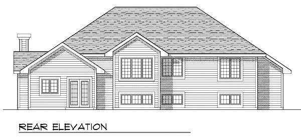 Traditional House Plan 73269 Rear Elevation