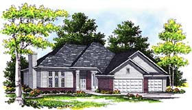 Traditional , Contemporary House Plan 73271 with 3 Beds, 2 Baths, 3 Car Garage Elevation