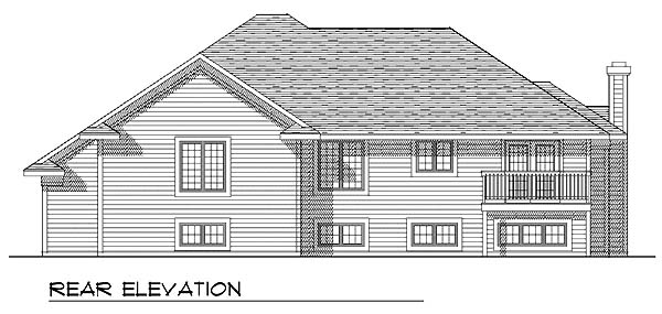 Contemporary Traditional House Plan 73271 Rear Elevation