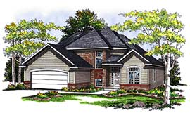 Contemporary Traditional House Plan 73272 Elevation
