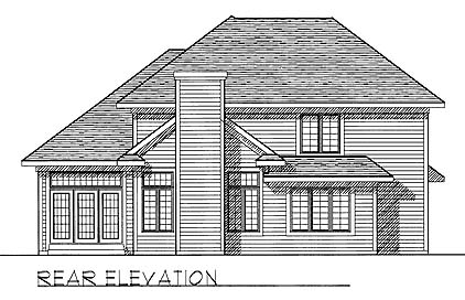 Contemporary Traditional House Plan 73272 Rear Elevation
